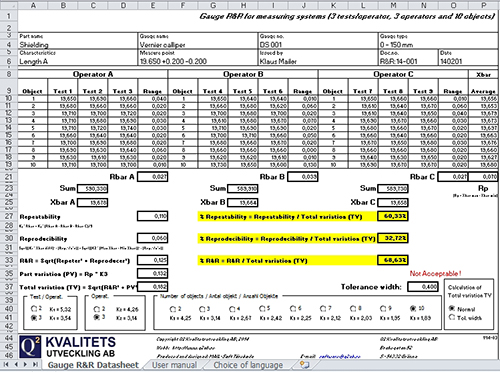 Q2 Management Development AB Excel Quality Tools Gauge R&R